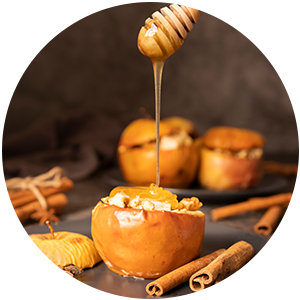 Punjene jabuke s orasima i čarobnim medenim umakom